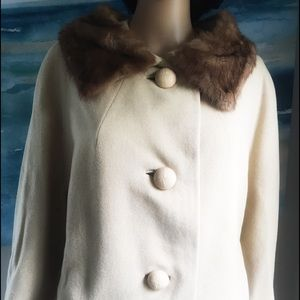 🌸Vintage Rothmoor Wool Coat with Mink Fur
